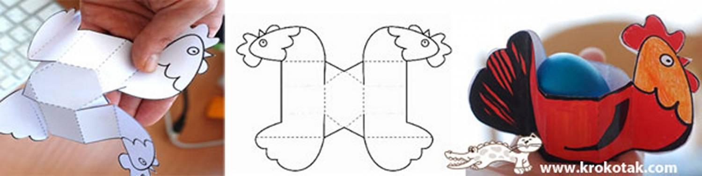 Поделки на пасхальный шаблон